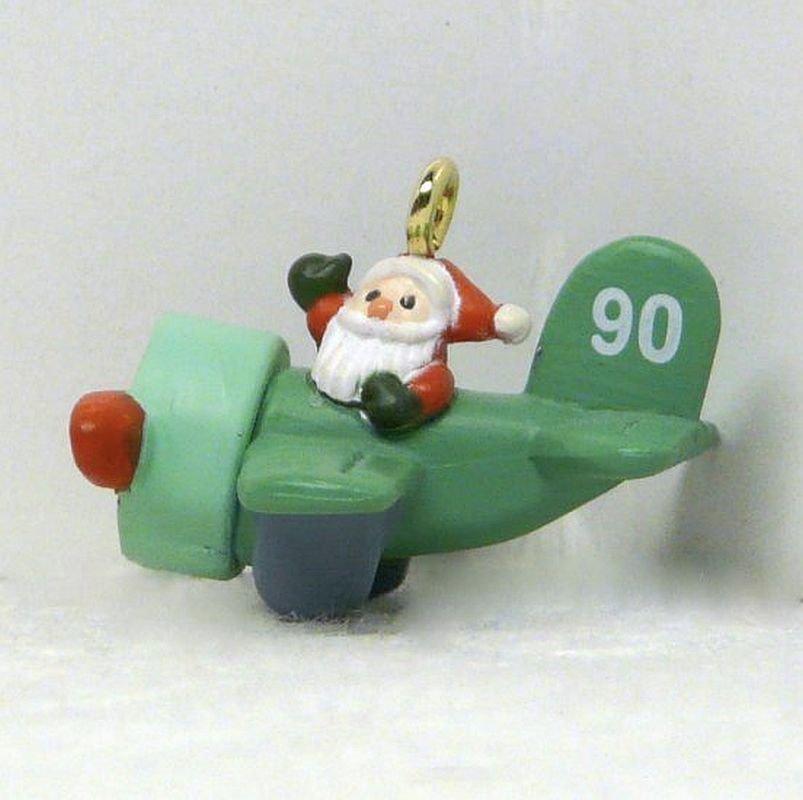 Vintage Hallmark Miniature Air Santa 1990 Christmas Ornament