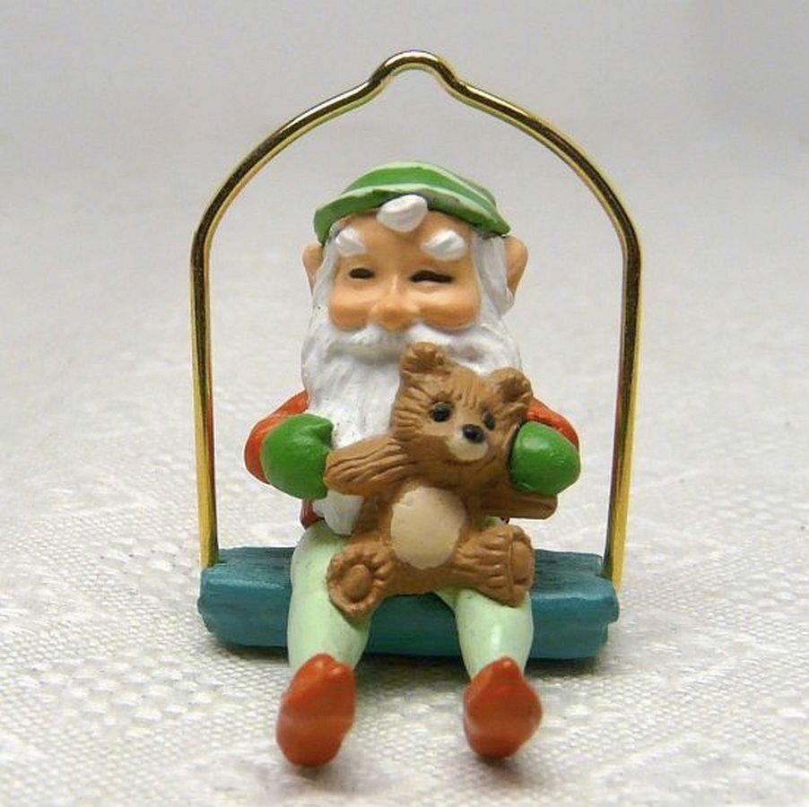 Vintage Hallmark Miniature Sharing a Ride Christmas Ornament 1989 QXM5765