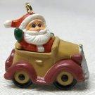 Vintage Hallmark Miniature Santa's Roadster Christmas Ornament 1989 QXM5665