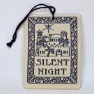 vintage ceramic Silent Night ornament Christmas Bethlehem