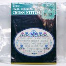 Counted Cross Stitch Kit Oval with Frame Thank You Mother by Designs for the Needle Easy Design