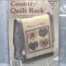 Doll Size Blue Country Quilt Rack or Decoration Heart to Heart by What's New Inc.