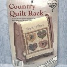 Doll Size Pink Country Quilt Rack or Decoration Heart to Heart by What's New Inc.