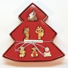 6 mini Gund Christmas ornaments Countdown to Christmas