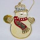 Danbury Mint annual Christmas Crystals 2010 snowman ornament retired
