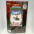 Bucilla Jeweled Wall Hanging Kit Christmas Holiday Tradition Season's Greetings