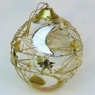 vintage Capiz shell ornament celestial moon stars globe Philippines