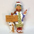 Hallmark Maxine 1996 Christmas ornament QX6224 This is as merry as I get