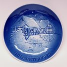 Vtg 1975 B&G Copenhagen plate Christmas at the Old Water Mill Bing and Grondahl