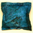 Artisan felted fabric balsam pillow fulled fabric wool handmade small