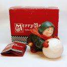 Dept 56 MerryMakers Sebastian the Snowball Maker monk 93670 porcelain box