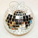 Mirror ball Christmas ornament 3-1/2""