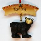 Trout Lake NY black bear Christmas ornament