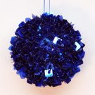 Cobalt blue beaded Christmas ornament