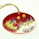 Christmas gift ornament w star earrings Santa sleigh
