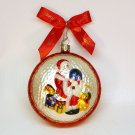 vtg Waterford Santa w globe medallion blown glass Christmas ornament Holiday Heirlooms Collection