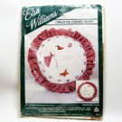 Crewel Embroidery Pillow Kit Sculptured Goose Elsa Williams Creative Crewelwork 13 inches round