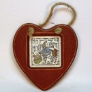 Wooden country heart Christmas ornament Creative Calligraphy May Your Days be Merry and bright