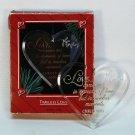 Vtg Hallmark 1986 Timeless Love ornament with box heart acrylic