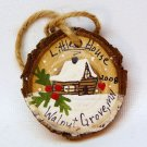 Little House Walnut Grove Minnesota Christmas ornament tree slice rustic hand painted and crafted