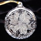 Mikasa Japan pressed frosted glass poinsettia Christmas ornament