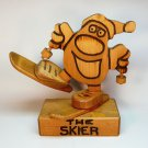 Vintage Don Mars Originals the Skier figurine hand crafted wood