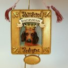 Dachshund dog Christmas ornament Sharan Simkins
