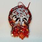 Old World style chickadee birds tin Christmas ornament
