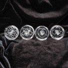 4 Vintage glass cookie stamps heart wreath bells four leaf clover Alfred Knobler & Co