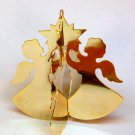 Vintage 1978 Lillian Vernon Lillikins angel star brass 3D Christmas ornament
