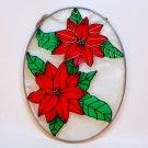 Christmas suncatcher poinsettia flower