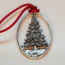 Pewter Seagull spruce tree ornament 1992 Etain Zinn Canada