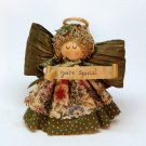 Vintage Your Special country look angel figurine Heaven's Touch 1991 handmade