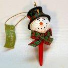 Golf ball and tee Christmas ornament snowman