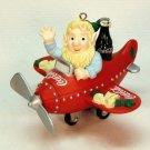 Coca-Cola Holiday High Flyer Christmas Ornament elf on a plane