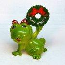 Enesco frog Christmas figurine Hoppy Holidays