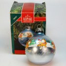 Vtg Hallmark Garfield Christmas ornament 1990 QX2303 sleeved glass