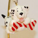 Vintage Hallmark Dalmatian dog Spots N Stripes Christmas ornament QX4529