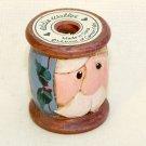 Eddie Walker small thread spool Santa Christmas figurine miniature