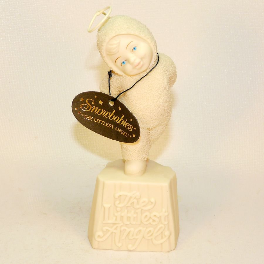 Dept 56 Snowbabies 69011 The Littlest Angel figurine bisque
