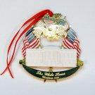 White House 1995 Christmas ornament 24kt gold finished brass no box