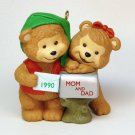 Vtg Hallmark 1990 Mom and Dad bear Christmas ornament QX4593