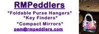 Purse Hangers - Key Hangers - Compact Mirrors - Bookmarks - Ladies Business Card Cases - ID/Glasses Necklaces & Pins