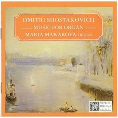 dmitri shostakovich : music for organ, maria makarova, organ (CD mint)