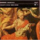 marenzio : madrigaux a 5 et 6 voix, rene jacobs / concerto vocale, CD 1982/1988 harmonia mundi, mint