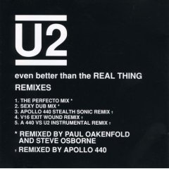 U2 : even better than the real thing remixes (CD single 1992 island, 5 tracks, used mint)