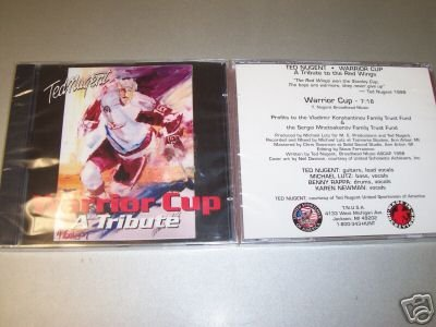 ted nugent - warrior cup a tribute to the red wings CD single 1998 one track used mint