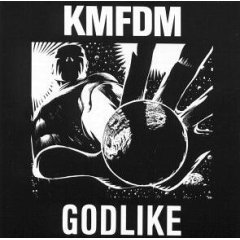 KMFDM : godlike, CD single, 1990 wax trax, 3 tracks, used near mint