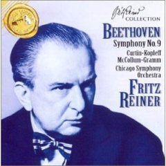 beethoven : symphony no.9 fritz reiner CSO & Chorus CD 1994 RCA used mint