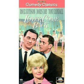 rock hudson doris day tony randall : lover come back VHS 1961 1996 universal mca used mint